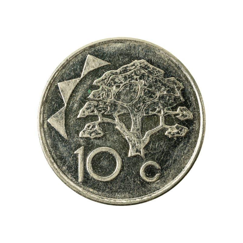 avers 2012 för 10 namibian centmynt arkivfoton