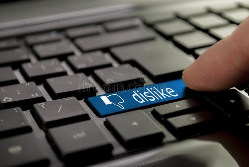 Aversión azul del botón fotos de archivo libres de regalías