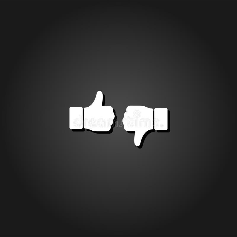 Aversion comme l'icône à plat illustration stock