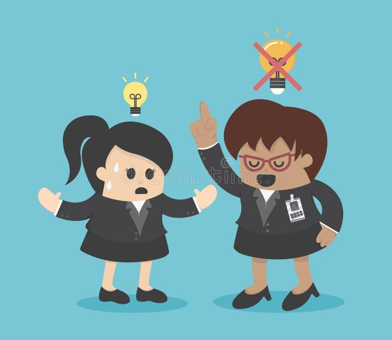 Aversion de patron les idées illustration libre de droits