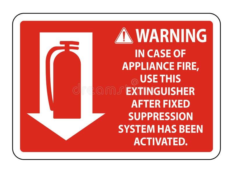 Avertissant en cas de feu d'appareils de se connecter le fond blanc, illustration de vecteur illustration libre de droits