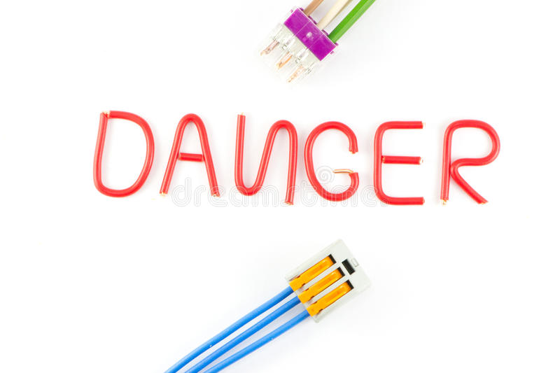 Avertissement électrique de sécurité illustration stock