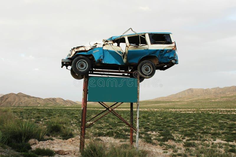 Avertissement d'accident de la circulation image libre de droits