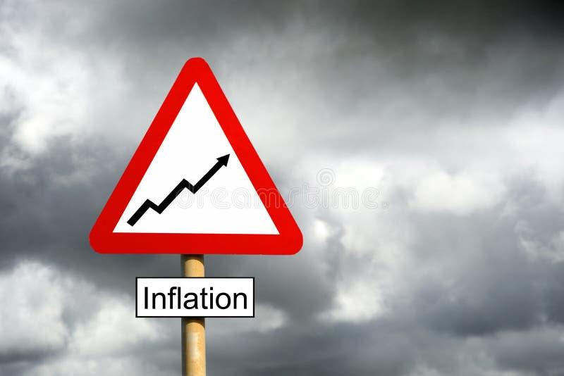 Avertissement d'inflation images stock
