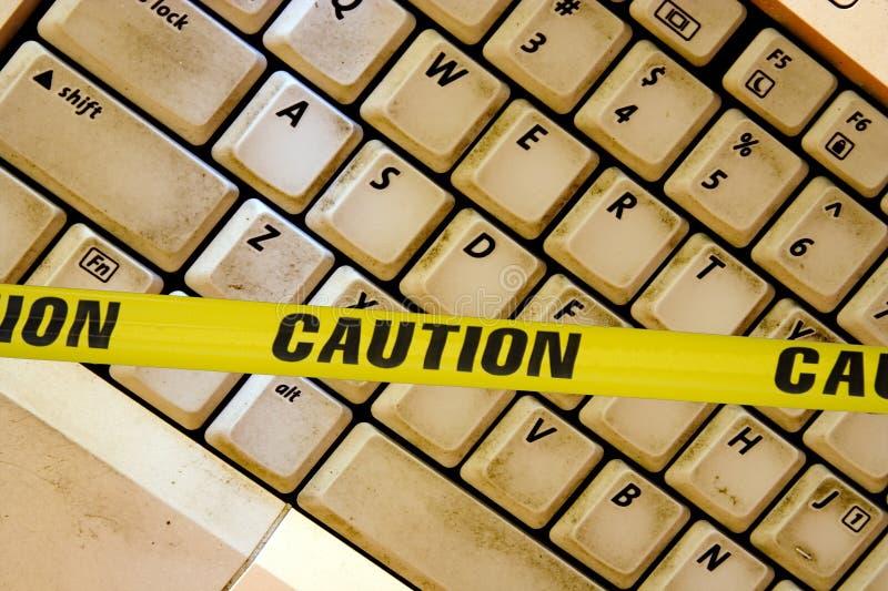 Avertissement d'Internet photographie stock libre de droits