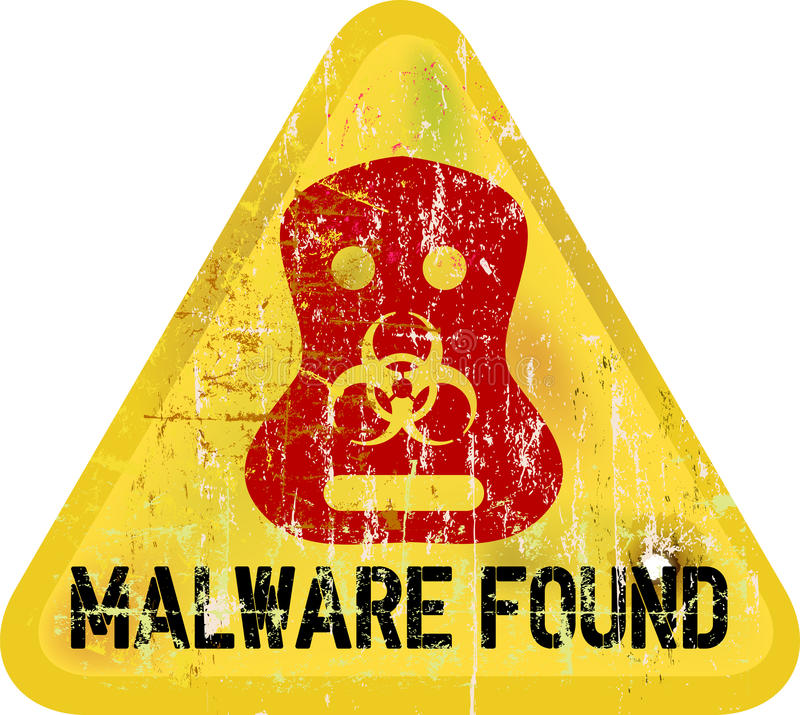 Avertissement de Malware illustration de vecteur
