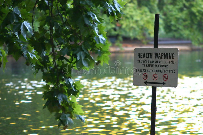 Download Avertissement de santé photo stock. Image du étang, nature - 81152
