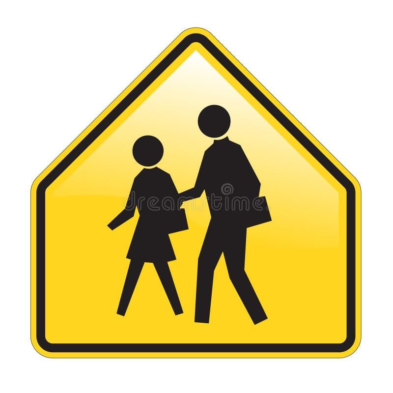 avertissement de signe d'école illustration stock
