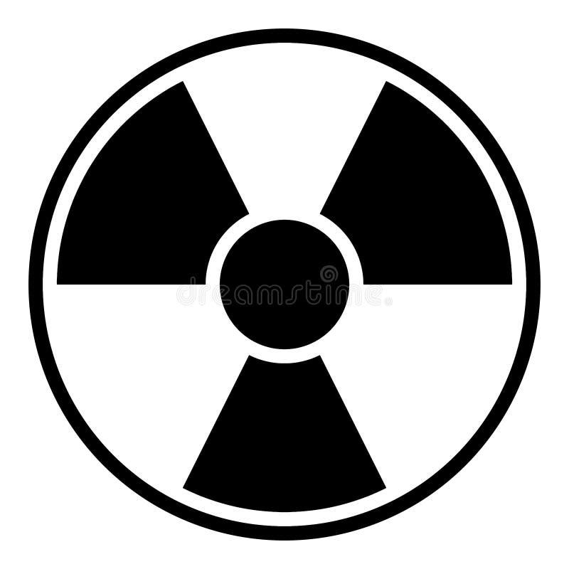 avertissement de signe de rayonnement illustration de vecteur