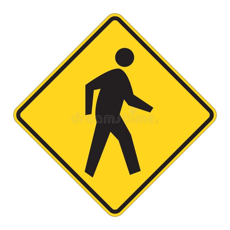 Avertissement de signe de route - piéton illustration libre de droits
