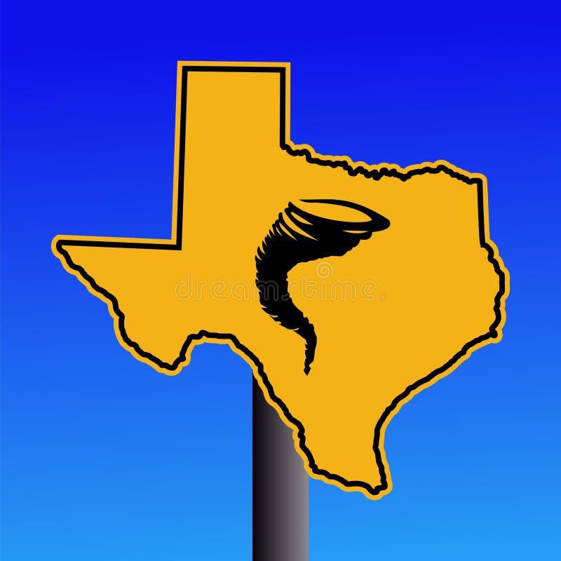 avertissement de tornade du Texas de signe illustration stock