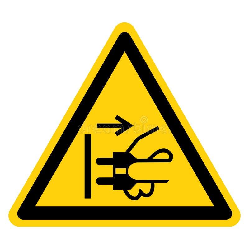 Avertissement Disconnect Mains Plug From Electrical Outlet Symbol Sign,Illustration vectorielle, Isolé Sur L'Étiquette D'Arrière- illustration libre de droits