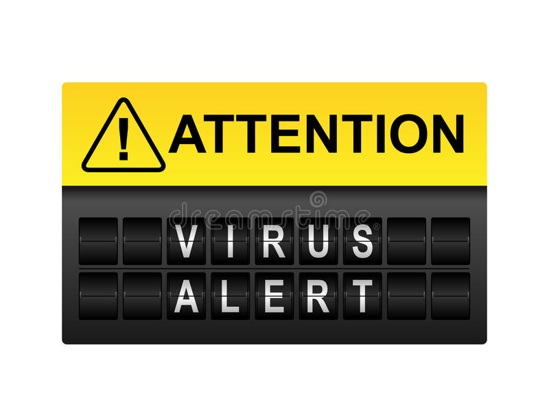 Avertissement vigilant de virus illustration libre de droits