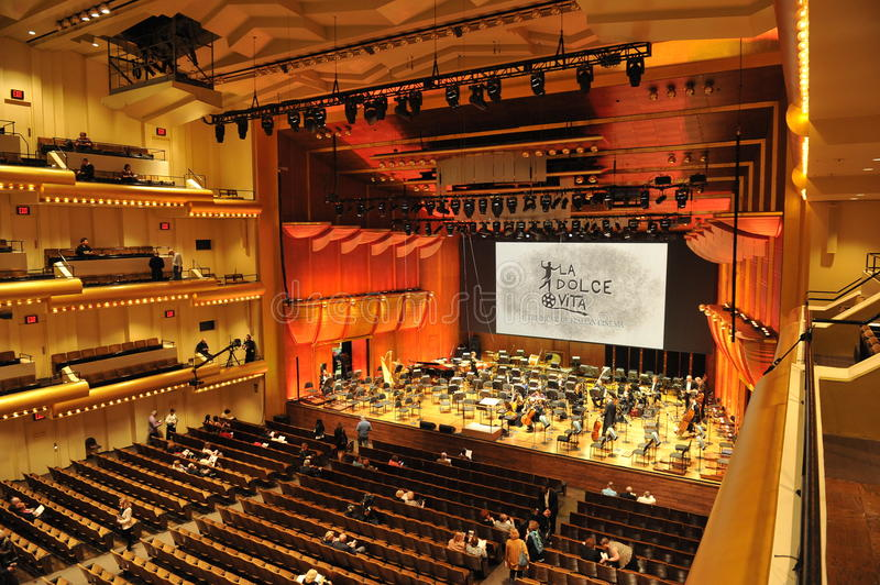 Avery Fisher Hall, Lincoln Center imagen de archivo