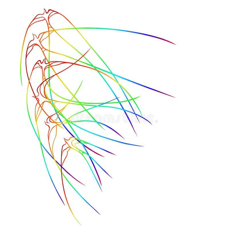 Aves del paraíso stock de ilustración