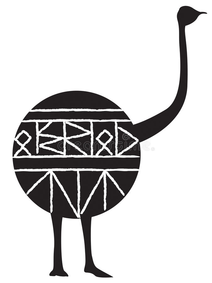 Avestruz africana foto de stock royalty free