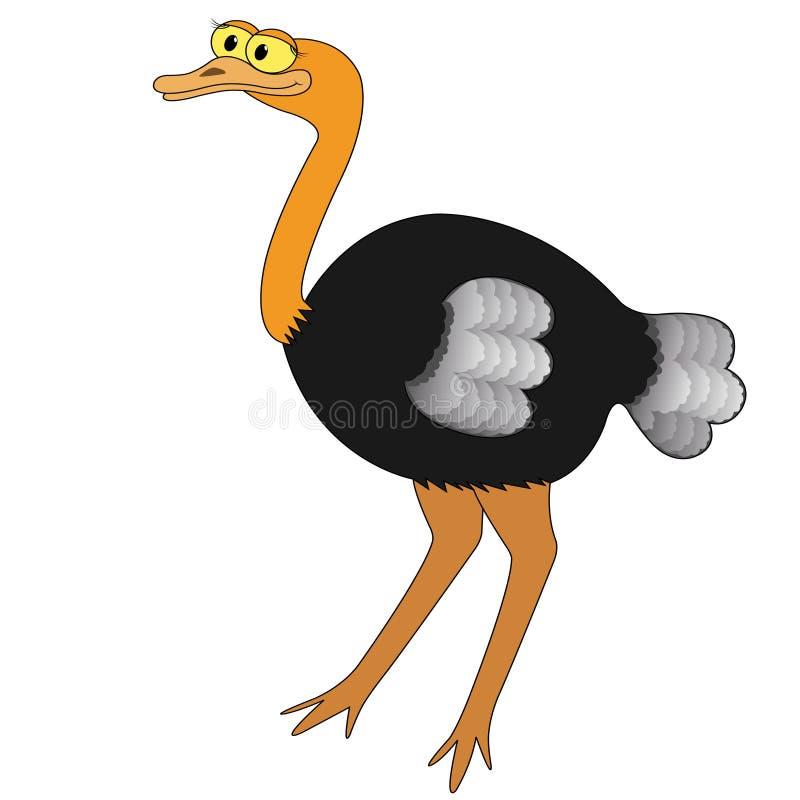 Ilustração do vetor dos desenhos animados da avestruz ilustração royalty free
