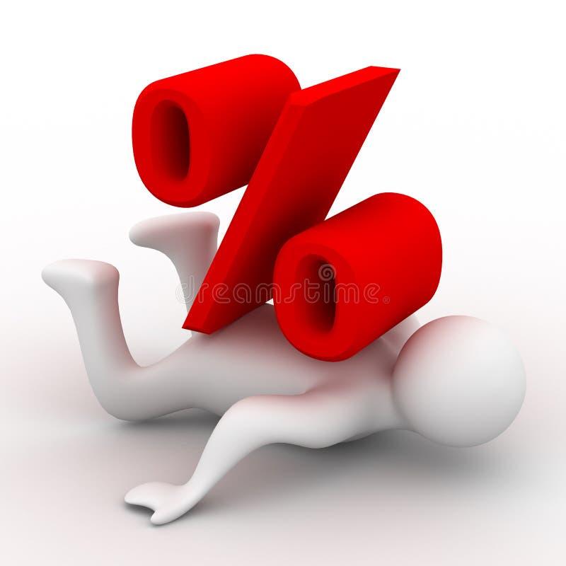 avfärdar procentpersonen stock illustrationer