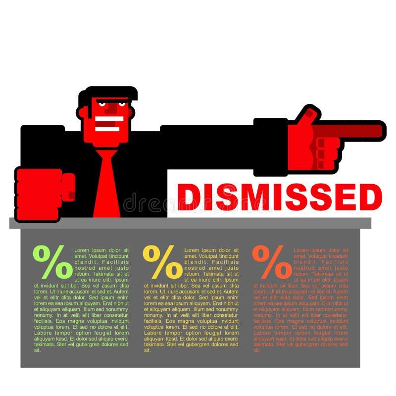 avfärdat Infographics för avskedande Röda ilskna Bospunkter till D vektor illustrationer