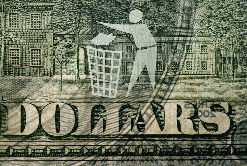 avfall för billdollarlogo arkivfoto