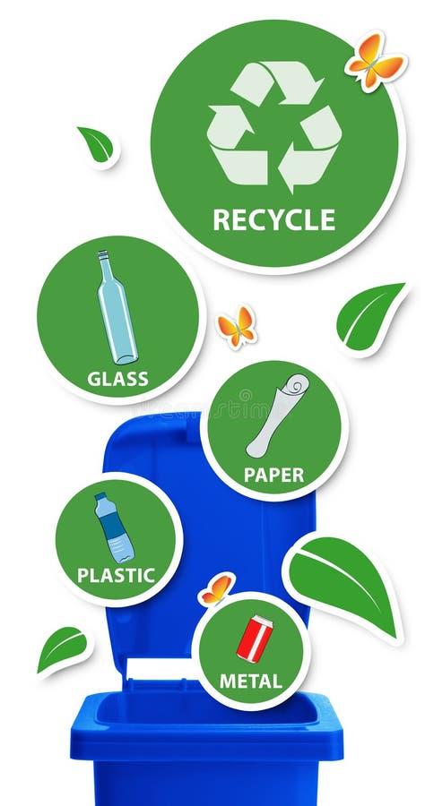 Avfall för resurser inte royaltyfri illustrationer