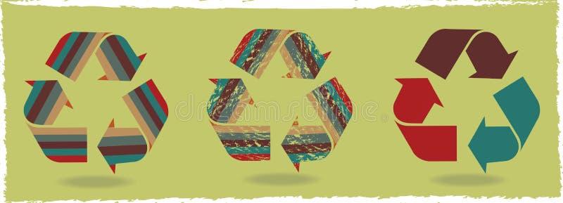 Avfall för tre symboler fotografering för bildbyråer