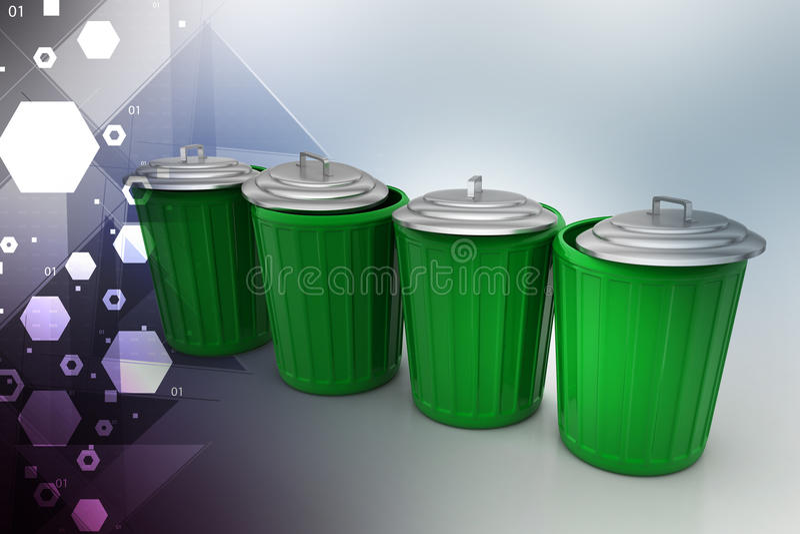 Avfallask vektor illustrationer