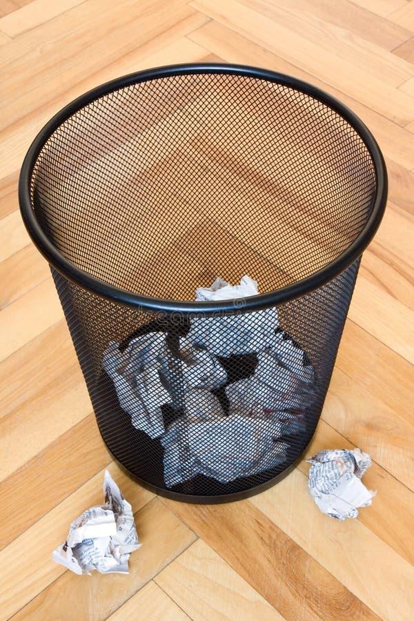 avfalls för fackavskrädepapper royaltyfri foto