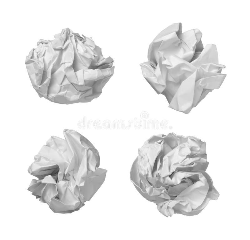 avfalls för papper för bollfrustrationkontor vektor illustrationer