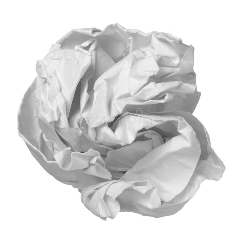 avfalls för papper för bollfrustrationkontor royaltyfria bilder