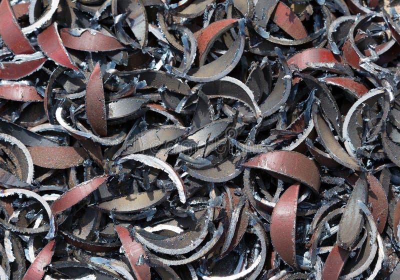 Avfalls för skroten för hög för restmetall för återanvändning av miljön royaltyfria foton