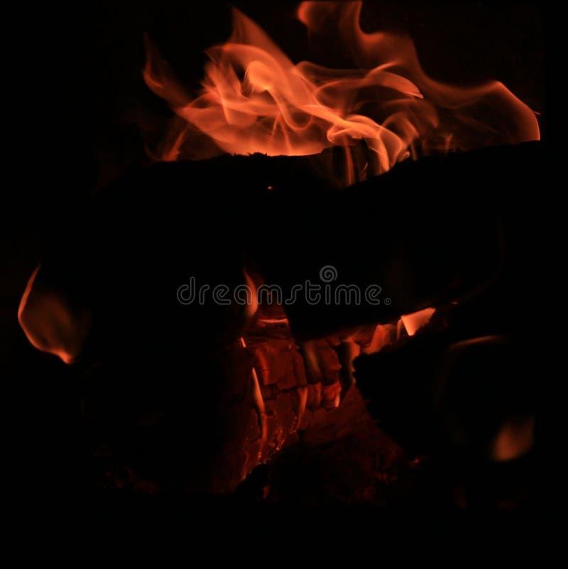 Avfyra för att bränna i ugnar vedträn royaltyfri foto