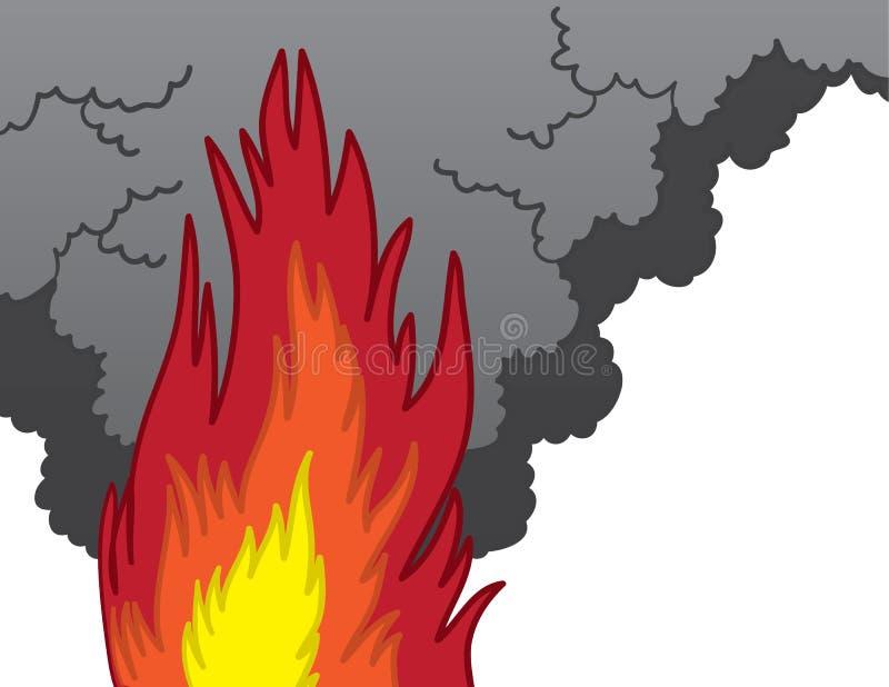 Avfyra röker stock illustrationer