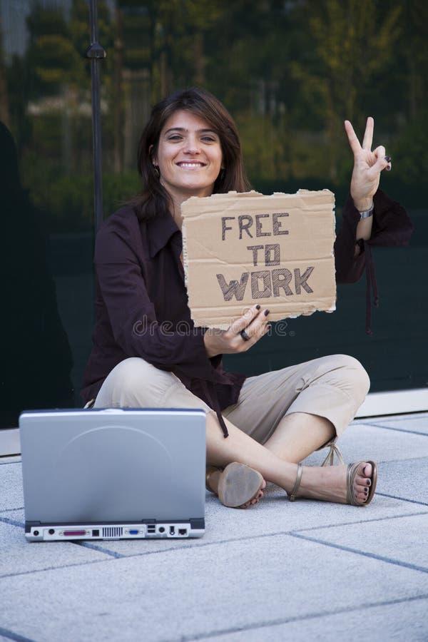 Avfyrad affärskvinna royaltyfri bild