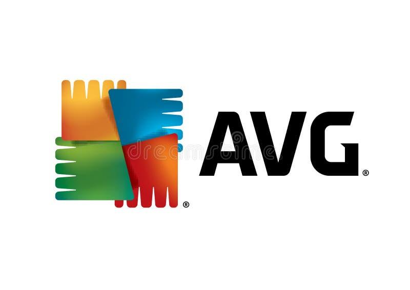 AVG Logo. JPG format avaliable White background vector illustration