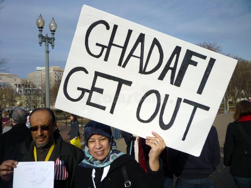 avhysa för ghadafi arkivfoto