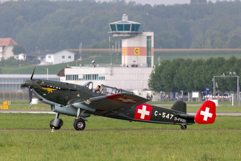Aviões de múltiplos propósitos suíços anteriores da força aérea EKW C-36 construídos no 1930's e no 1940's imagens de stock royalty free