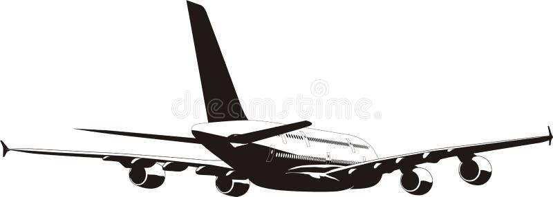 Avião A-380 ilustração stock
