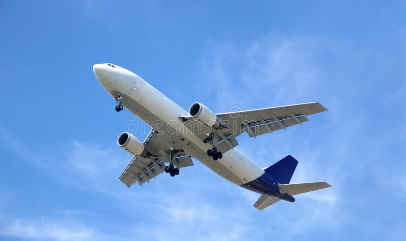 Avião 4 fotos de stock royalty free