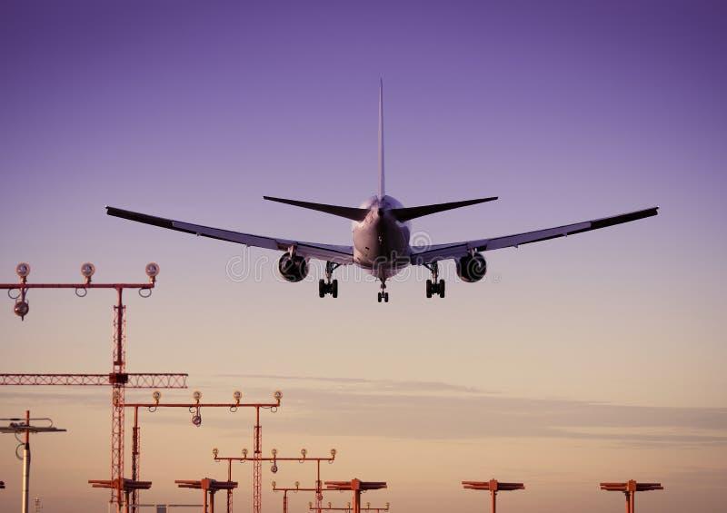Avião/aeroporto fotografia de stock