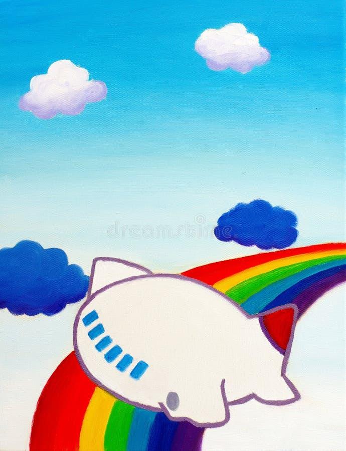 Download Avião bonito ilustração stock. Ilustração de pigment - 12802687