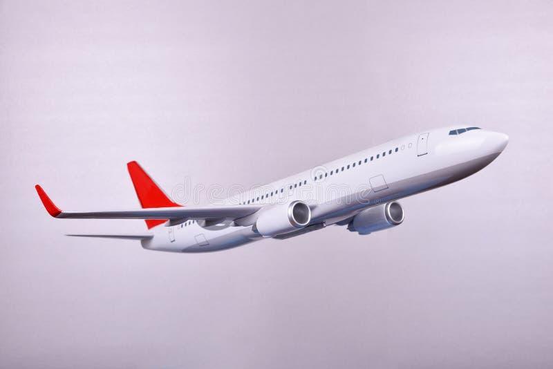 Avião branco do passageiro imagens de stock