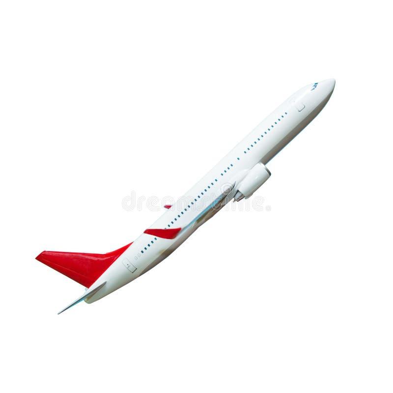 Avião branco do passageiro no branco fotos de stock