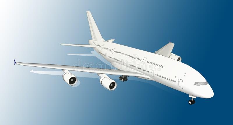 Avião branco moderno ilustração royalty free