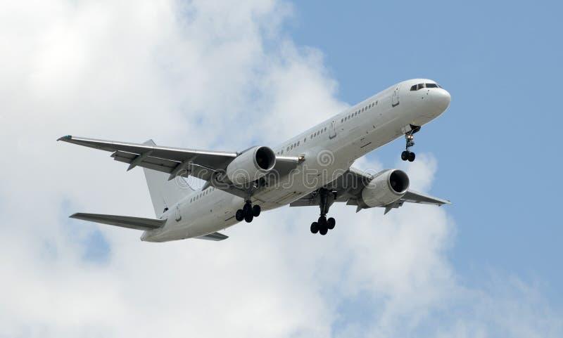 Avião branco não marcado imagens de stock