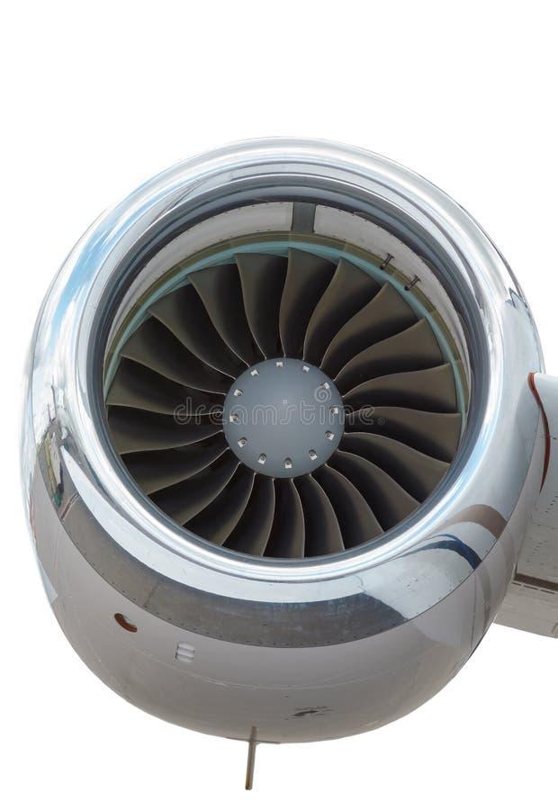 Avião comercial do motor de jato foto de stock royalty free
