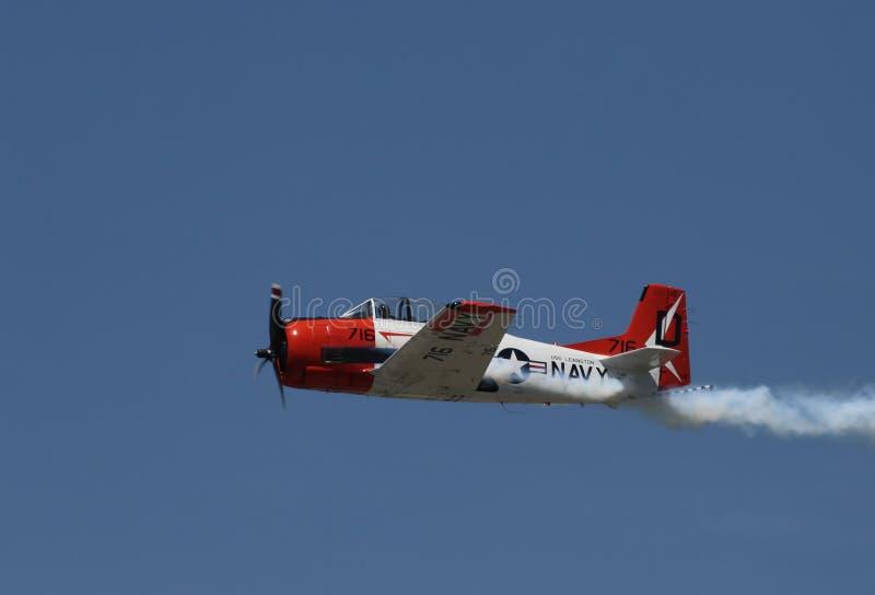 Avião da marinha na reunião do divertimento de Sun n fotos de stock
