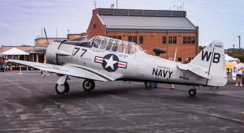 Avião da marinha SNJ imagem de stock royalty free