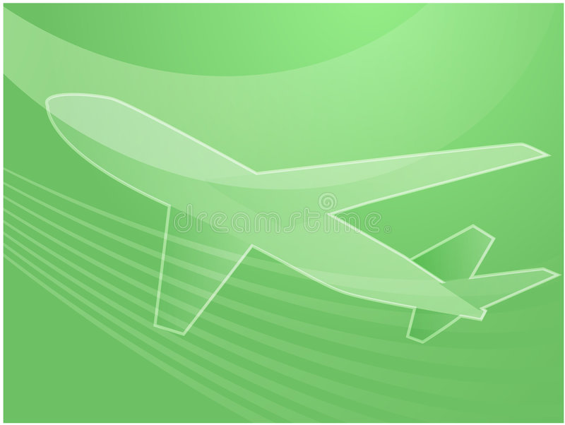 Avião da viagem aérea ilustração stock