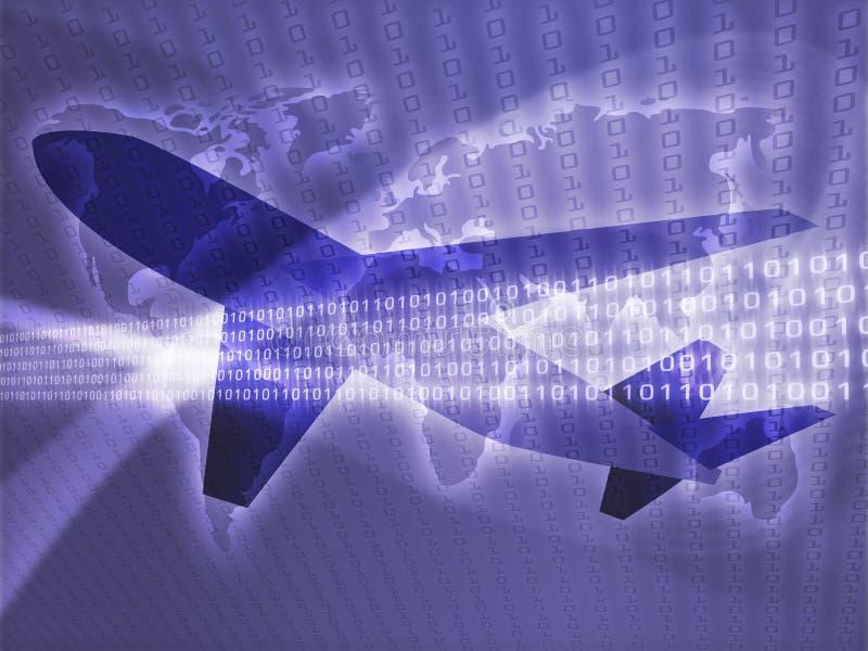 Avião da viagem aérea ilustração do vetor